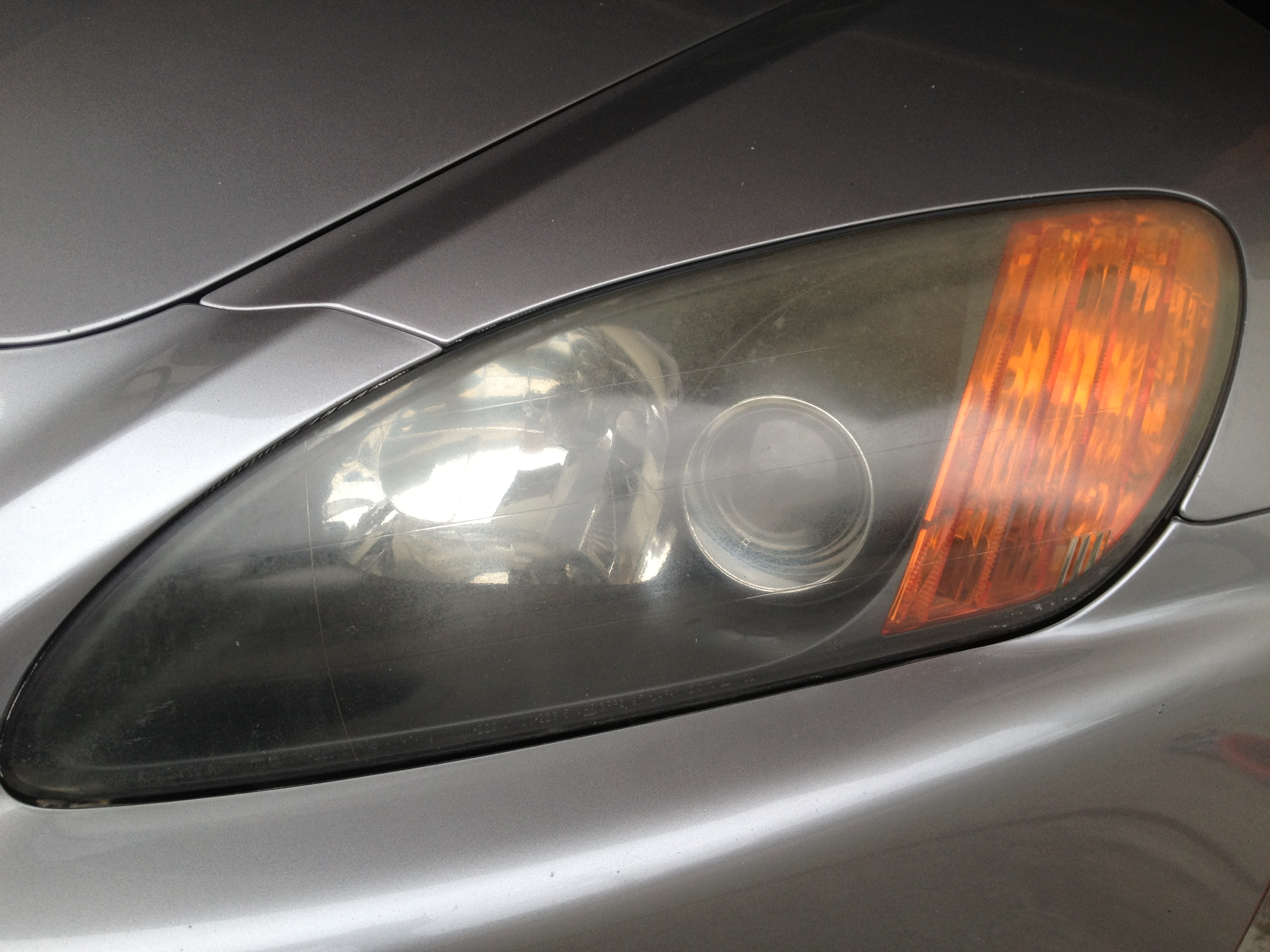 S2000 Headlight Restoration BEFORE