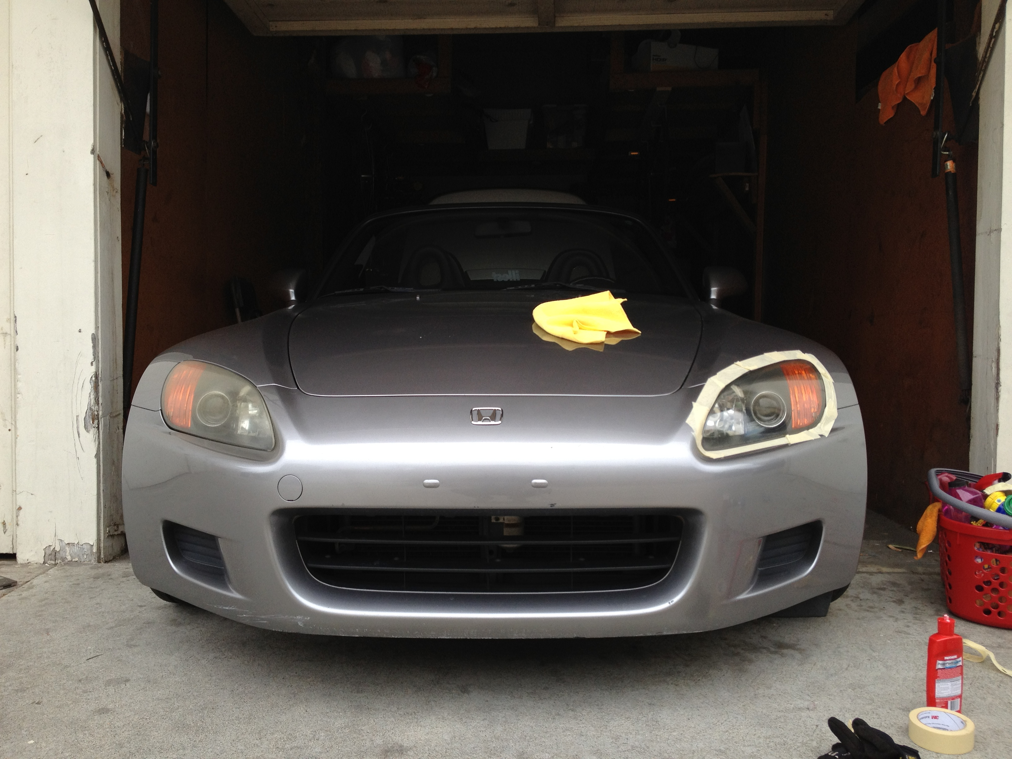 S2000 Headlight Restoration