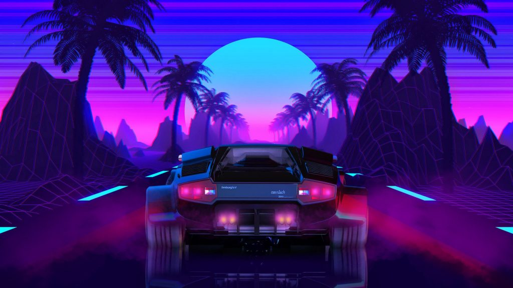 Top 10 SynthWave Car Illustrations - AutoMobile Uploads